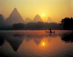 fiskare på Li-floden
