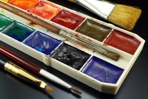 vattenfärg målar för att rita