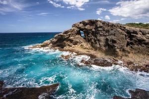 stenig Puerto Rico kust foto