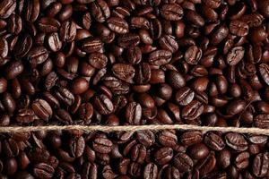arabica kaffebönor konsistens foto