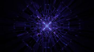 oändlig lila 3d illustration bakgrundstunnel