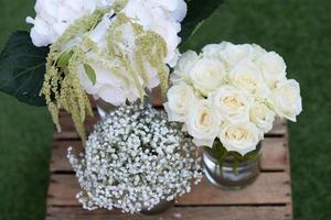 blommor för ett bröllop