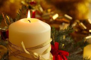 julstearinljus foto