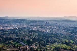 panoramautsikt över Florens från fiesole