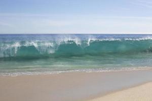 vinka på stranden foto
