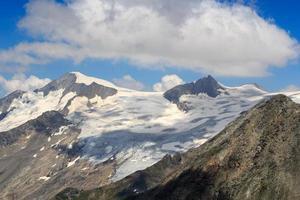 bergstopp großvenediger och glaciär, Hohe Tauern Alperna, Österrike foto
