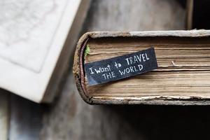 Jag vill resa världen konceptet foto