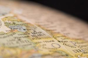 makro världen karta detalj av vitryssland foto