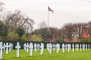 Flandern fält amerikansk kyrkogård i Waregem Belgien foto