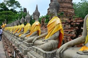 buddha staty av wat yai chai mongkhon