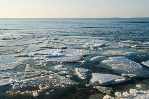 smältande isflak vid havet