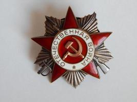 samling av sällsynta ordningar och medaljer foto