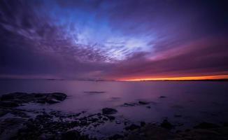 vacker solnedgång på Östersjön foto