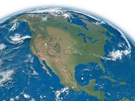 Nordamerika på blå jord foto