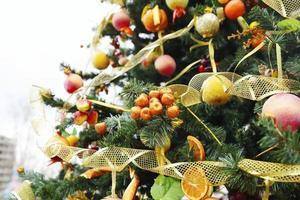 fragment av julgran foto