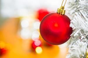 vacker juldekoration. foto
