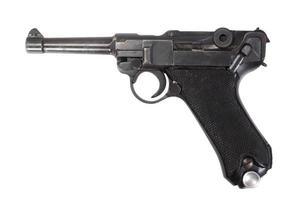 luger p08 parabellum pistol isolerad