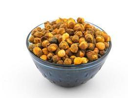 en skål med kryddig chana eller gram