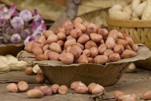 färska friska jordnötter foto