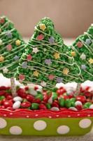 ris krispiga barer dekorerade till jul foto