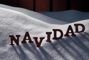 kort med snö och ordet navidad betyder jul