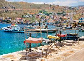pittoreska ön Symi, Grekland
