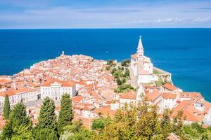 panorama av vackra piran, Slovenien