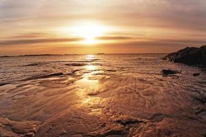 soluppgång över Nordsjön, Norge foto