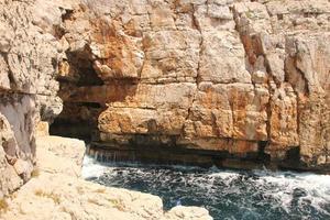 odysseus grotta på mljet island, kroatien foto