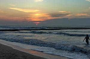tidigt på morgonen i Lido di Jesolo, venetianska Rivieran, Italien