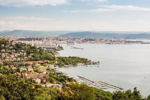 panorama över Trieste, Italien
