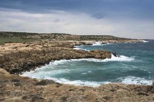 kusten i sydöstra Cypern