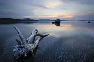 solnedgång över Firth av ropotamo floden
