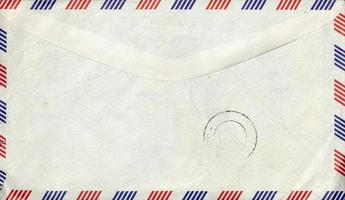 gammalt flygpostkuvert med stämpel foto
