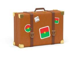resväska med Burkina Fasos flagga