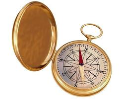 gammal kompass isolerad foto