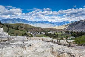mammutiska varma källor, Yellowstone National Park foto