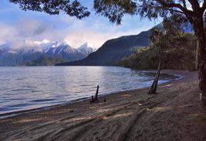 Lake Hauroko, Fiordland, Nya Zeeland foto