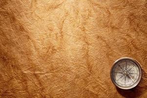 kompass på vintage papper bakgrund