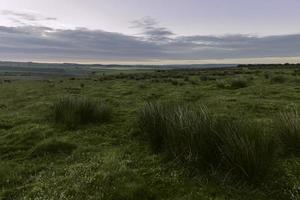 North York Moors at Dawn, Levisham, Yorkshire, Storbritannien.