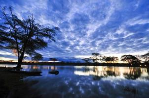 afrikanska vattenlandskap foto