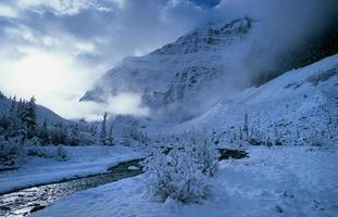 Mount Edith Cavell, kanadensiska klippor foto