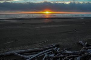 solnedgång i olympiska nationalparken, washington, usa