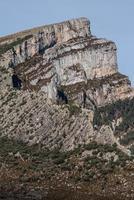toppar i Anisclo Valley, Ordesa National Park, Pyrenéerna, nyans foto