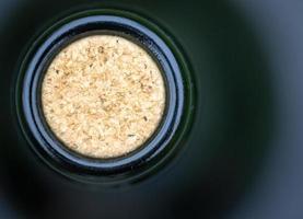 makro närbild vinflaska kork