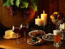 semester behandlar vin snacks öl 4x5 film foto