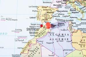 pushpin på Marocko foto