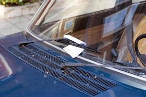 parkeringsbiljett! foto