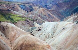 vulkaniskt landskap - landmannalaugar, Island
