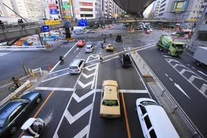rutt 246 och shibuya station östra utgångsområde